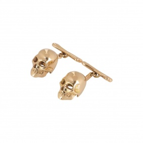 Rose Gold Skull Cufflinks